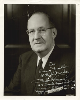 GOVERNOR FREDERICK G. PAYNE - AUTOGRAPHED INSCRIBED PHOTOGRAPH