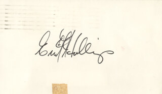 Autographs: ERNEST FRITZ HOLLINGS - SIGNATURE(S)