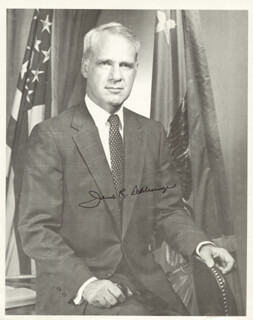 JAMES R. SCHLESINGER - AUTOGRAPHED SIGNED PHOTOGRAPH