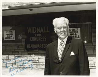 Autographs: WILLIAM B. WIDNALL - INSCRIBED PHOTOGRAPH SIGNED