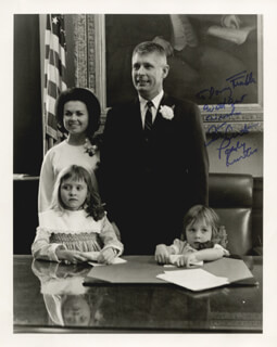 GOVERNOR KENNETH M. CURTIS - AUTOGRAPHED INSCRIBED PHOTOGRAPH CO-SIGNED BY: PAULINE BROWN (POLLY) CURTIS