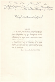 FLOYD WESTON STAFFORD - INSCRIBED PAMPHLET SIGNED