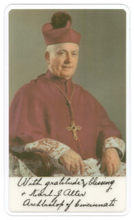 Autographs: KARL J. ARCHBISHOP ALTER - PHOTOGRAPH SIGNED