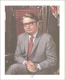 GOVERNOR PATRICK J. LUCEY - AUTOGRAPHED SIGNED PHOTOGRAPH CIRCA 1973