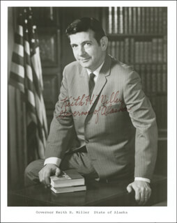 GOVERNOR KEITH H. MILLER - AUTOGRAPHED SIGNED PHOTOGRAPH