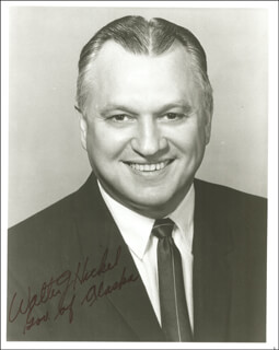 Autographs: WALTER J. HICKEL - PHOTOGRAPH SIGNED