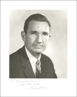 Autographs: RAMSEY CLARK - INSCRIBED PHOTOGRAPH SIGNED CIRCA 1969