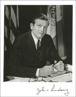 MAYOR JOHN V. LINDSAY - AUTOGRAPHED INSCRIBED PHOTOGRAPH