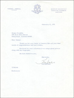 THOMAS J. MESKILL - TYPED LETTER SIGNED 02/17/1971