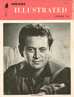 Autographs: PHILIP CASSADORE - MAGAZINE COVER SIGNED