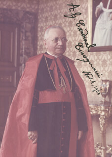 Autographs: AMLETO GIOVANNI A.G. CARDINAL CICOGNANI - INSCRIBED PHOTOGRAPH SIGNED 11/01/1968