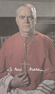 Autographs: JOHN CARDINAL DEARDEN - PRINTED PHOTOGRAPH SIGNED IN INK
