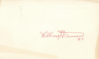 WILLIAM L. DAWSON - AUTOGRAPH