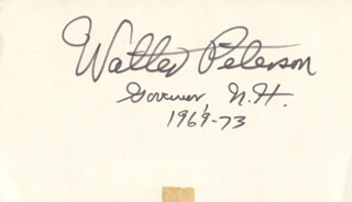 GOVERNOR WALTER PETERSON - POST CARD SIGNED