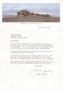 Autographs: GOVERNOR JOHN HUGO ARONSON - TYPED LETTER SIGNED 10/03/1973