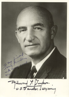 GOVERNOR MILWARD L. SIMPSON - AUTOGRAPHED INSCRIBED PHOTOGRAPH