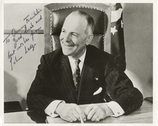 GOVERNOR JOHN D. LODGE - AUTOGRAPHED INSCRIBED PHOTOGRAPH