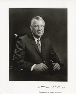 GOVERNOR DAN K. MOORE - AUTOGRAPHED SIGNED PHOTOGRAPH