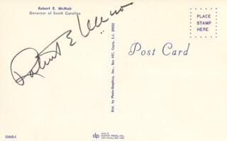 ROBERT E. McNAIR - PICTURE POST CARD SIGNED