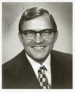 Autographs: GOVERNOR JAMES B. EDWARDS - PHOTOGRAPH SIGNED
