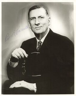 Autographs: ROSS R. BARNETT - PHOTOGRAPH SIGNED