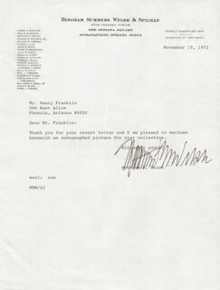 GOVERNOR MATTHEW E. WELSH - TYPED LETTER SIGNED 11/19/1973