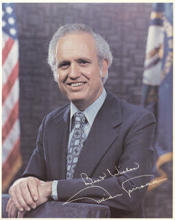 GOVERNOR JULIAN M. CARROLL - AUTOGRAPHED SIGNED PHOTOGRAPH