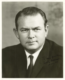 Autographs: GOVERNOR HENRY BELLMON - INSCRIBED PHOTOGRAPH SIGNED 12/22/1964