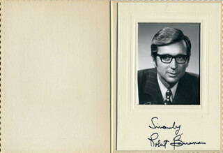 Autographs: PREMIER ROBERT BOURASSA (CANADA) - PHOTOGRAPH MOUNT SIGNED