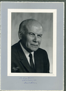 RICHARD E. FULLER - INSCRIBED PHOTOGRAPH MOUNT SIGNED