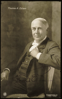 Autographs: THOMAS A. EDISON - PICTURE POST CARD SIGNED