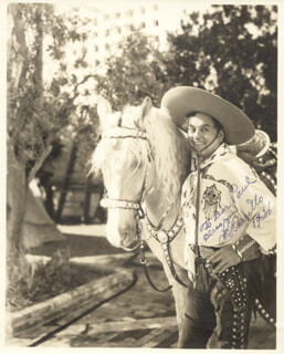 LEO PANCHO CARRILLO - AUTOGRAPHED INSCRIBED PHOTOGRAPH 1936