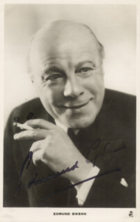 EDMUND GWENN - PICTURE POST CARD SIGNED