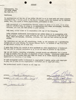 GEORGE L. MIKAN - DOCUMENT SIGNED 01/19/1951