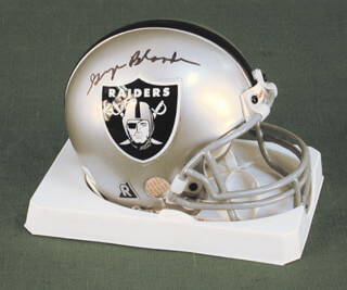 Autographs: GEORGE BLANDA - MINIATURE HELMET SIGNED