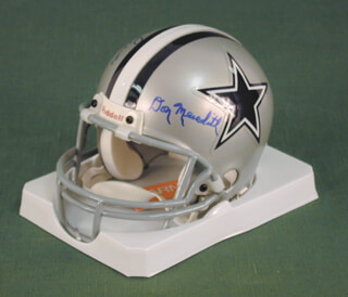 DALLAS COWBOYS - MINIATURE HELMET SIGNED CO-SIGNED BY: DON MEREDITH, DAN REEVES