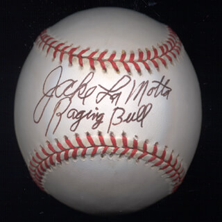 Autographs: JAKE THE RAGING BULL LA MOTTA - BASEBALL SIGNED