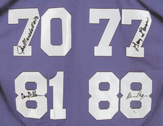 MINNESOTA VIKINGS - JERSEY SIGNED CO-SIGNED BY: ALAN C. PAGE, CARL ELLER, JIM MARSHALL, GARY LARSEN