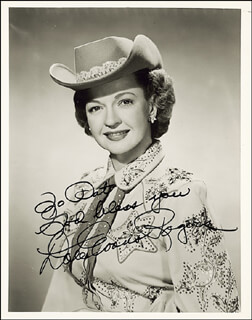 DALE EVANS - AUTOGRAPHED INSCRIBED PHOTOGRAPH