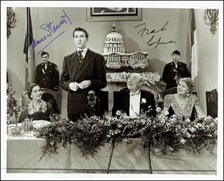 MR. SMITH GOES TO WASHINGTON MOVIE CAST - AUTOGRAPHED SIGNED PHOTOGRAPH CO-SIGNED BY: JAMES JIMMY STEWART, FRANK CAPRA