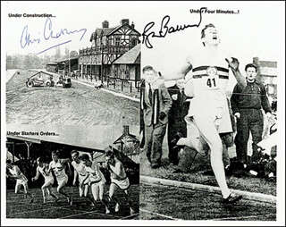 Autographs: ROGER G. BANNISTER - PHOTOGRAPH SIGNED CO-SIGNED BY: CHRISTOPHER CHATAWAY