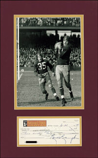 Autographs: SAMMY BAUGH - CHECK SIGNED 06/20/1975
