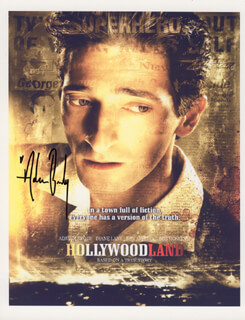 ADRIEN BRODY - PRINTED PHOTOGRAPH SIGNED IN INK