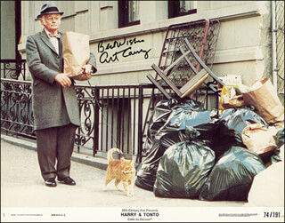 Autographs: ART CARNEY - LOBBY CARD SIGNED