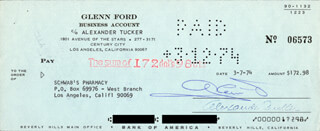 GLENN FORD - AUTOGRAPHED SIGNED CHECK 03/07/1974