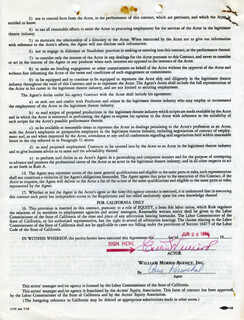ESTHER WILLIAMS - CONTRACT SIGNED 06/20/1960