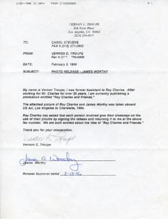 JAMES A. WORTHY - DOCUMENT SIGNED 02/13/1996