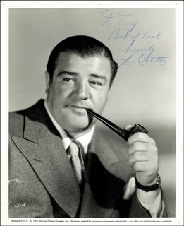ABBOTT & COSTELLO (LOU COSTELLO) - AUTOGRAPHED INSCRIBED PHOTOGRAPH