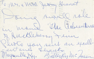 BUTTERFLY McQUEEN - AUTOGRAPH LETTER SIGNED CIRCA 1984