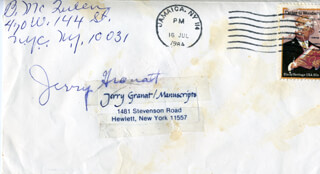 BUTTERFLY McQUEEN - ENVELOPE SIGNED CIRCA 1984